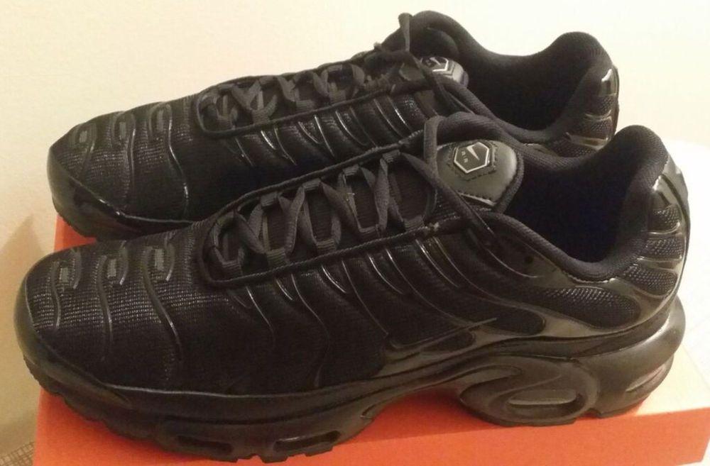 d0b425c1882 NIKE AIR MAX PLUS Tn Triple Black MEN S SHOES PREMIUM LIFESTYLE SNEAKER SZ  10.5  fashion  clothing  shoes  accessories  mensshoes  athleticshoes (ebay  link)