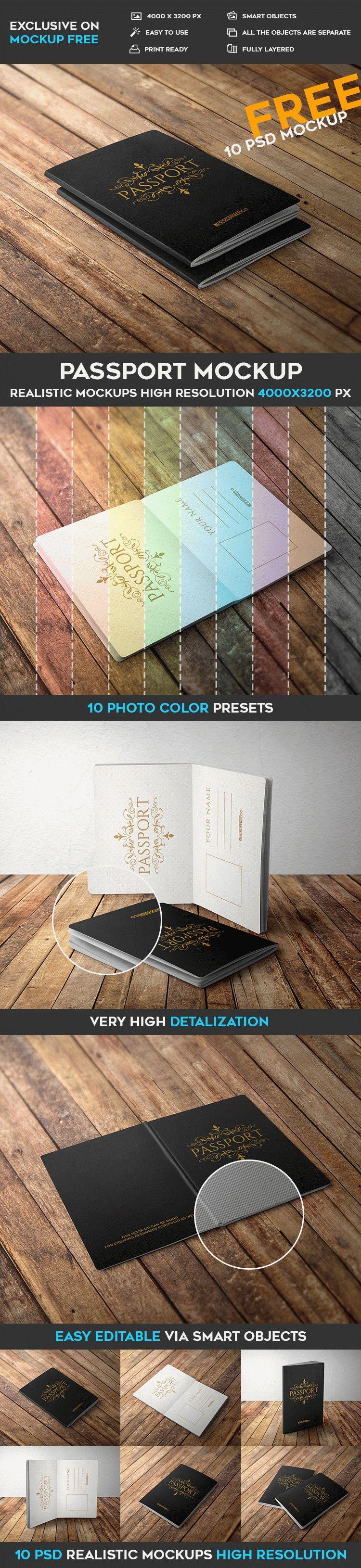 10 Free Passport PSD Mockups | Free PSD Templates | #free #photoshop ...