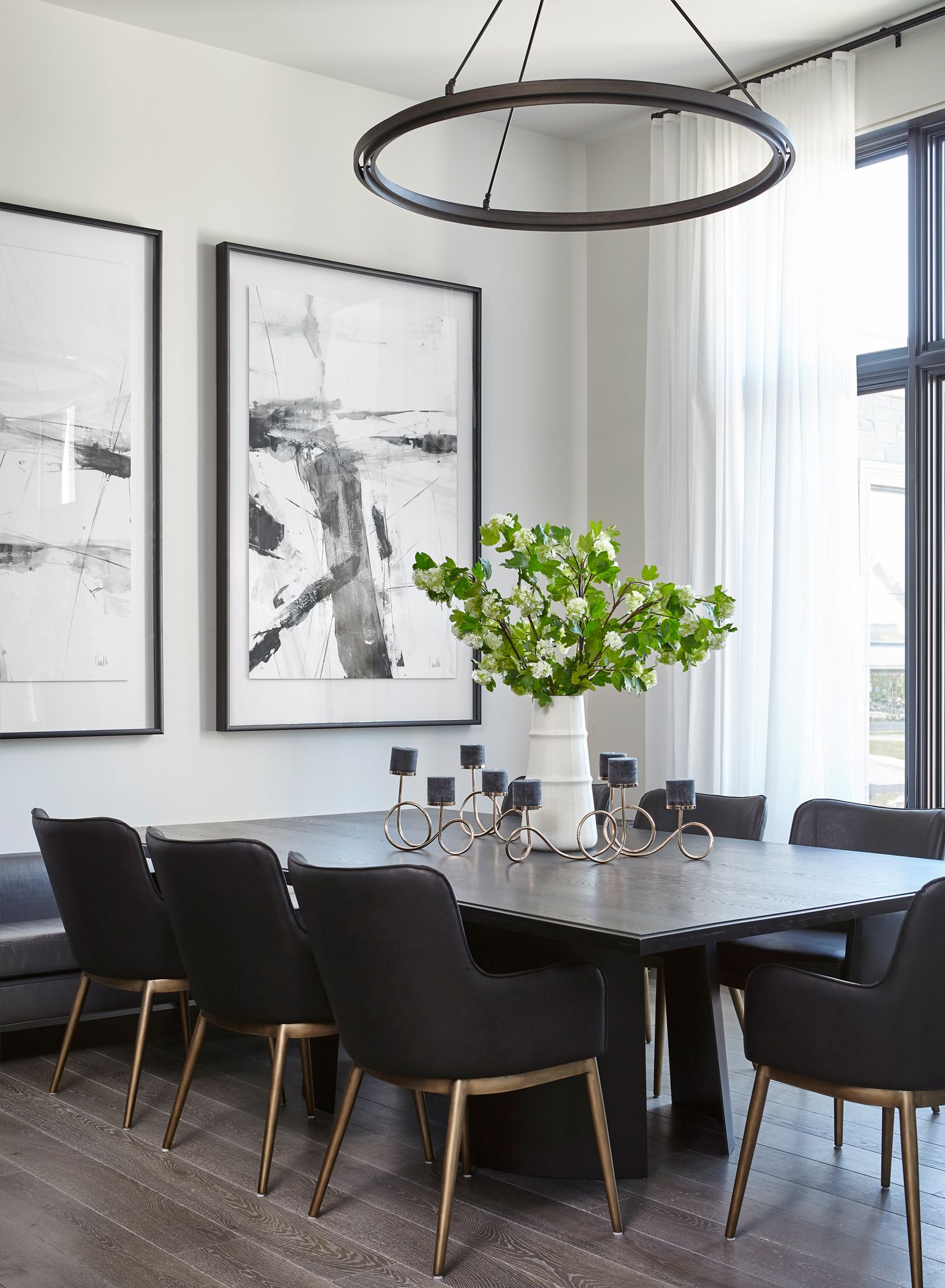 Oversized Dining Room Table Large Wall Art Minimalist Metal