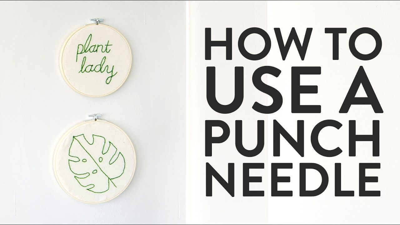 How to Use a Punch Needle (and Make Quick, Easy Embroidered Wall Art!) – YouTube