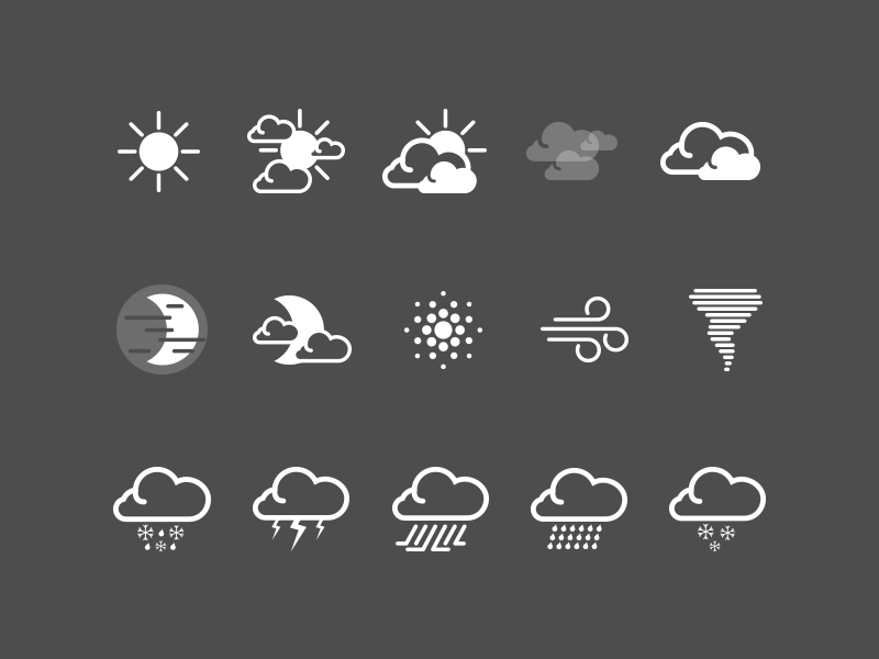 HTC Sense Weather Icons Weather icons, Icon design