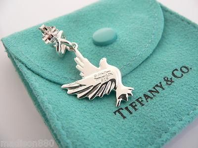 cdd6dbb62 Overview: Offered for sale is a very rare and wonderful pair of Tiffany and  Co. Paloma Picasso Dove earrings. Awesome depiction of two doves in flight!
