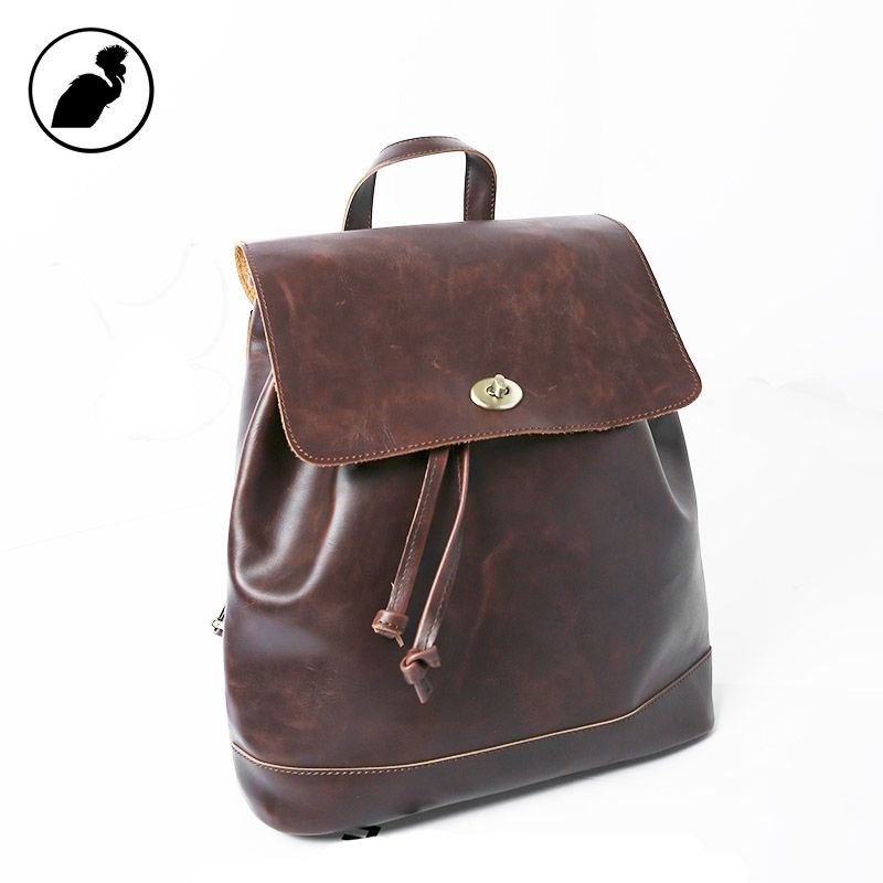 2a1a0c755e ETONWEAG New 2017 women famous brands cow leather casual travel school bags  brown lock mini preppy