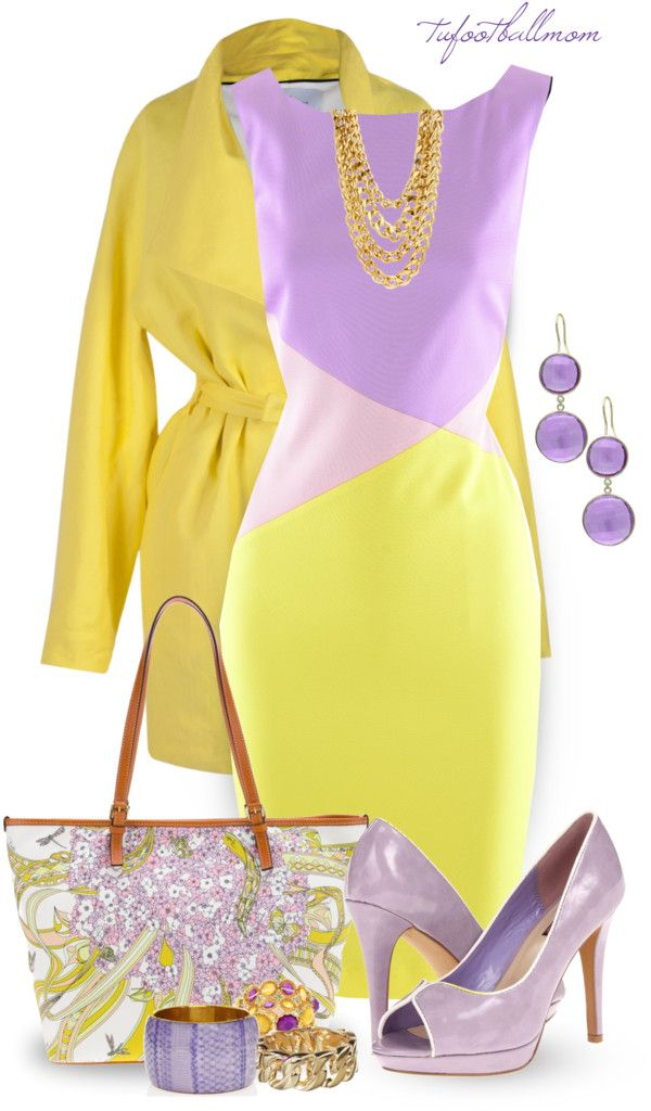 Purple Yellow By Tufootballmom On Polyvore