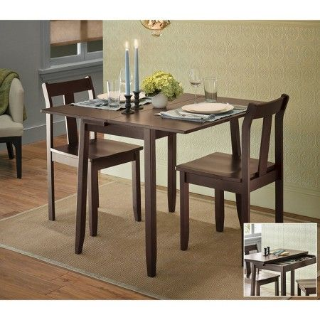 3 Piece Expandable Dining Set, Target Dining Room Table
