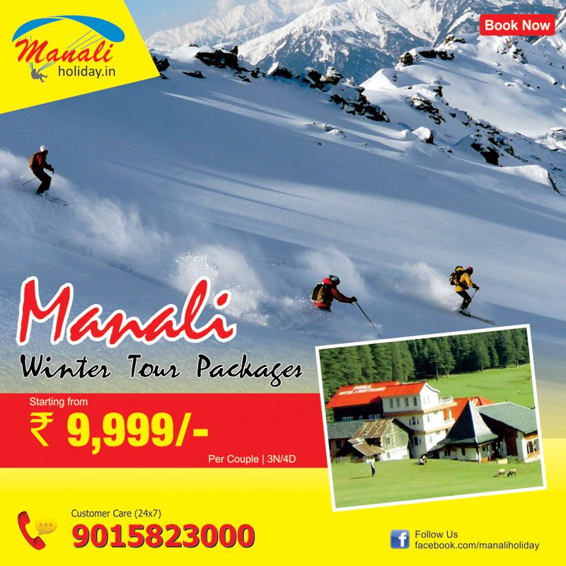 Book manali winter tour packages starting prices Rs: 9999-/- per couple of 03 nights / 04 days from manaliholiday.in and enjoy your winter vacation in manali with your friends..!!..  Click here:- http://goo.gl/bGGdlk  or call us: +91-120-4214222.  #manali, #winter, #tour, #christmas, #newyear2015