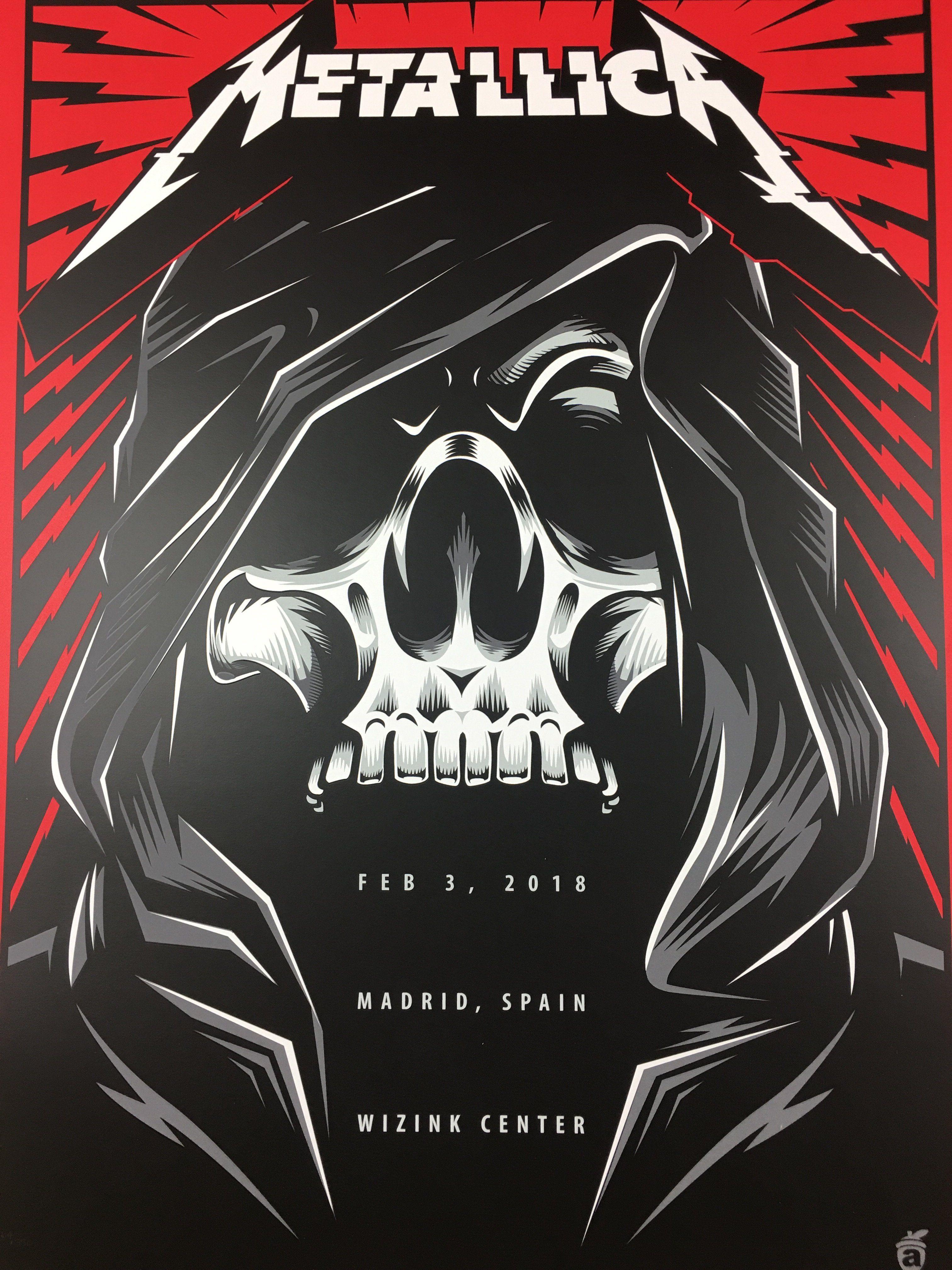 Metallica 2018 Acorn Poster Madrid Spain Wizink Center