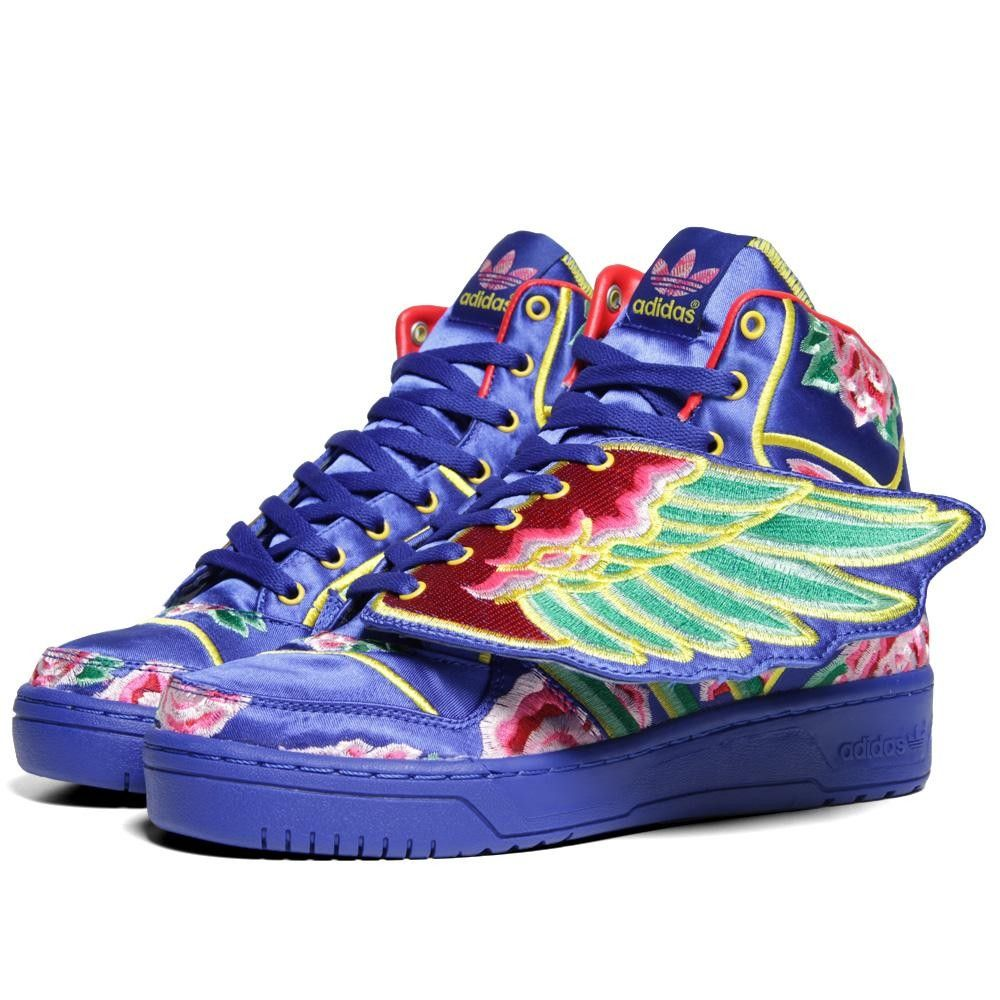 detailed look 7e072 a1fa7 Jeremy scott eason chan adidas originals js wings shoes sale,adidas red  Adidas ObyO x Jeremy Scott x Eason Chan Wings Chinese New Year (Cobalt) ...