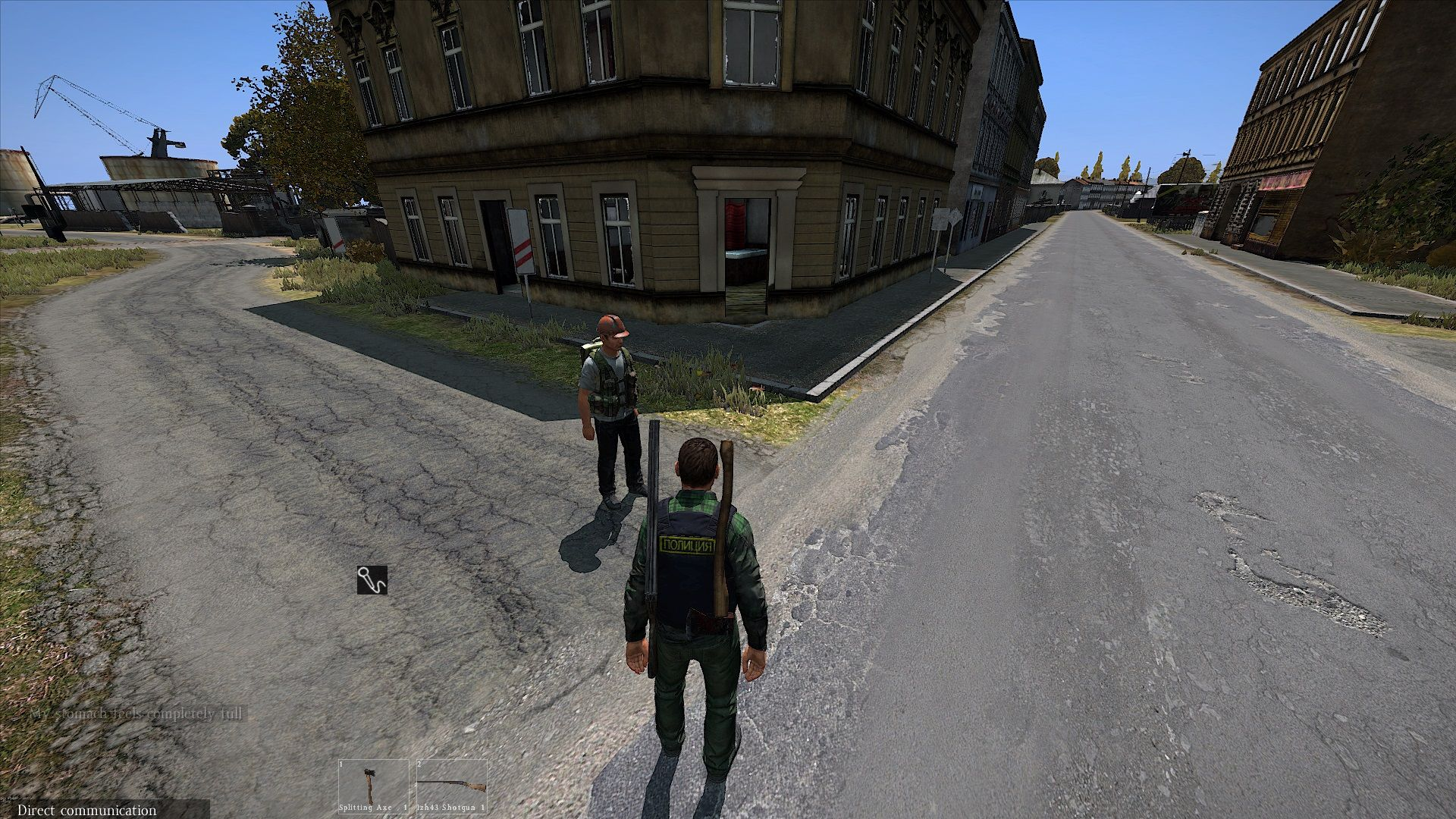 Street Meeting In Berezino By The Pub And It Looks Like A Nice