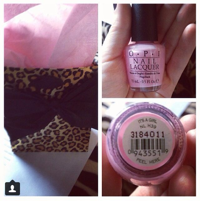 Baby Shower for girl party favor... OPI \