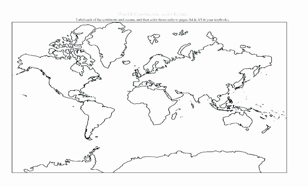 Label Continents And Oceans Printable Continent Map Coloring Sheet Awesome Printable Continen Ocean Coloring Pages World Map Coloring Page World Map Continents Label continents and oceans printable