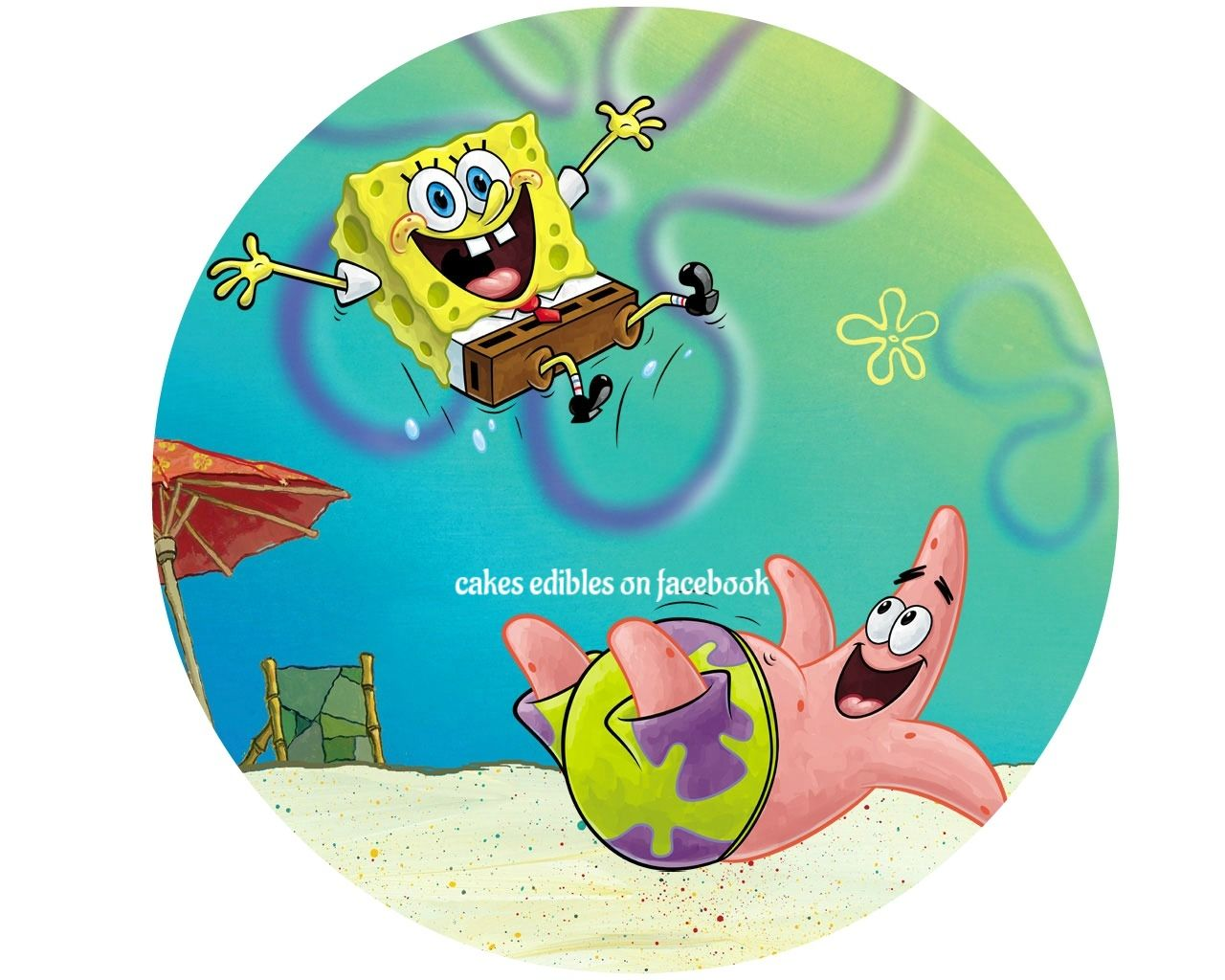 Edible cake topper spongebob quotes spongebob