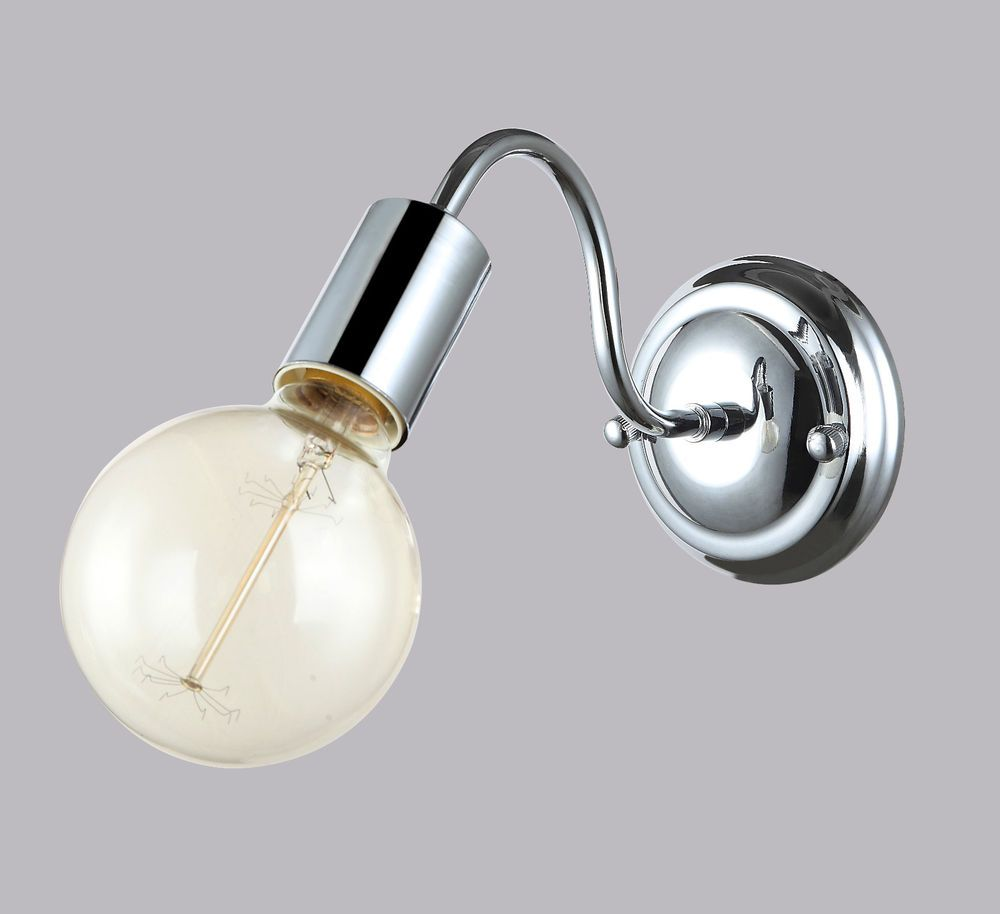 Illuminazione Bagno A Parete applique lampada da parete industrial vintage cromato