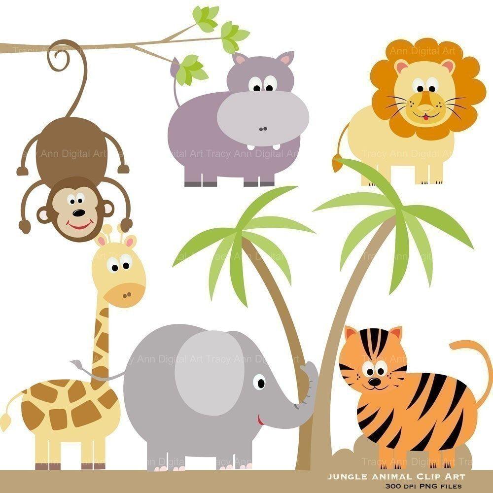 Jungle Animal Clip Art Original Zoo Jungle Book Clipart Animal Clipart Free Baby Jungle Animals Animal Clipart