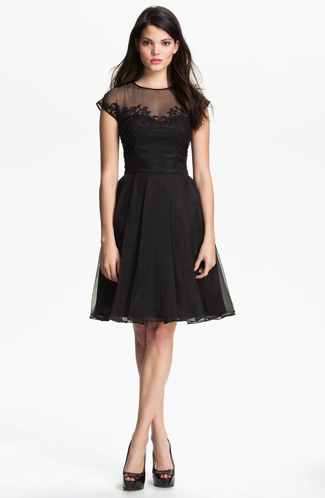 Ted Baker London Embellished Silk Fit & Flare Dress | Nordstrom ...