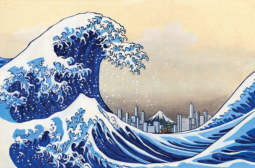 Tsunami painting | The Painted Road | Inspiring Art ...