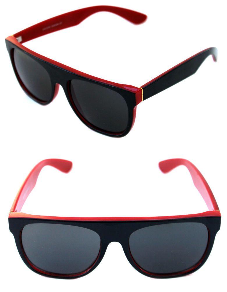 d9a586efcb6 Men s Flat Top Sunglasses Impero Super Polished Black Red Frame Retro  Vintage  SuperSunglasses  FlatTop