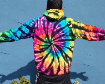 Rainbow Ice Dye Tie-Dye Crop Top