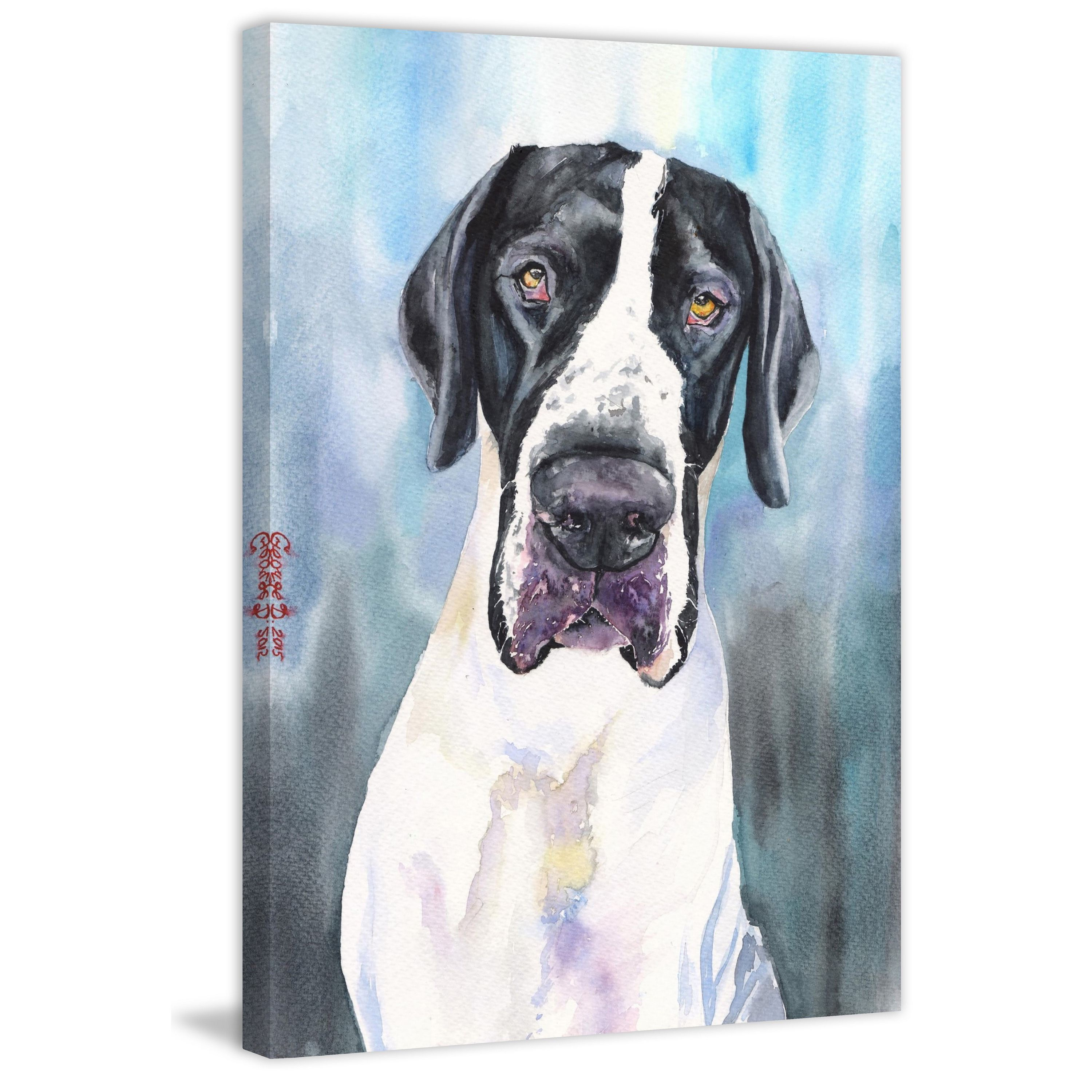 Marmont Hill Handmade Great Dane 4 Print On Wrapped Canvas