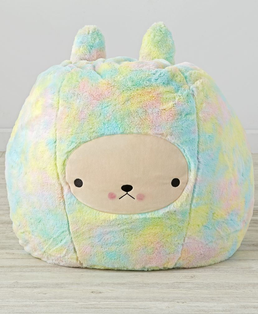 Shop Furry Bunny Bean Bag Chair Set. This furry rainbow bunny bean bag chair  isn t ready to hop around your house. It s just looking to provide your  little ... 2a5e9f9a5c4f7