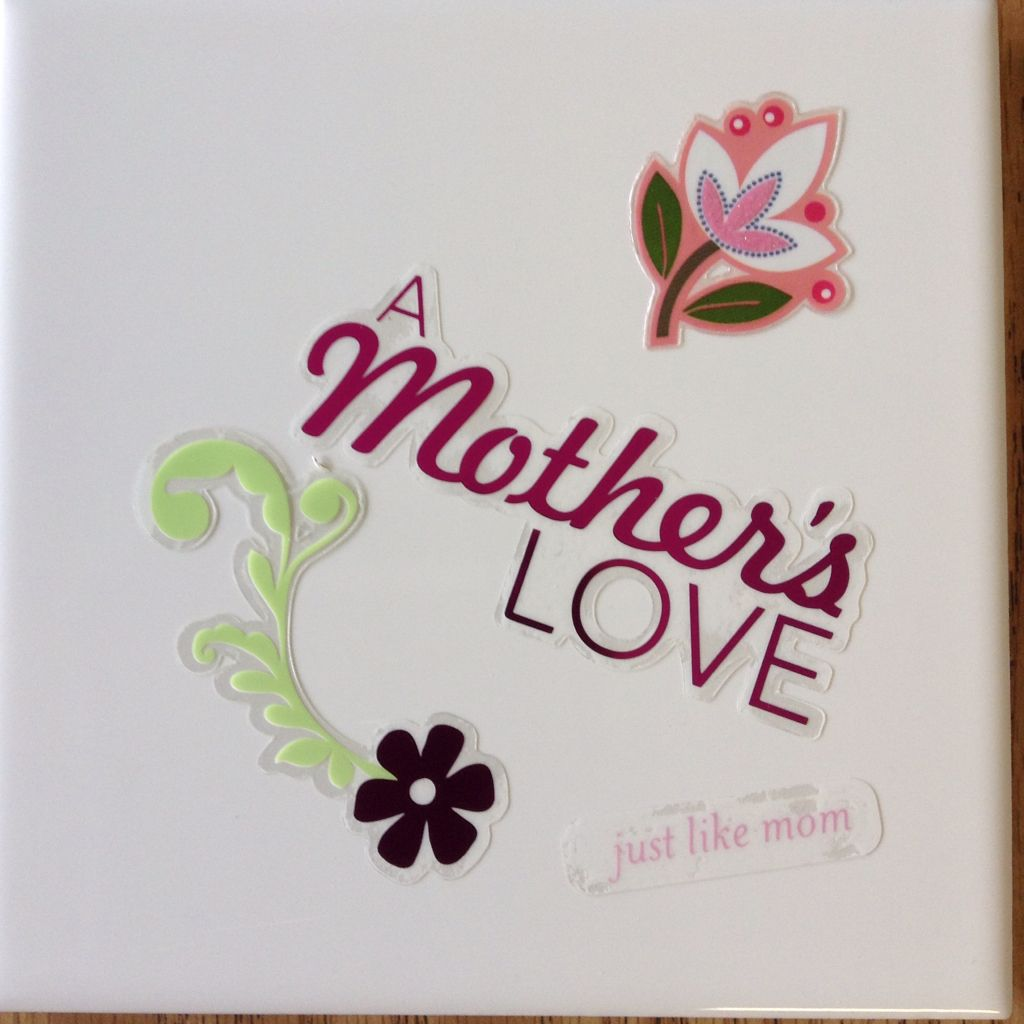 Diy hot plate mothers day craft i used a 6x6 ceramic tile and craft jeuxipadfo Gallery