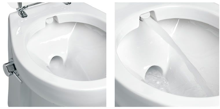 Planus Elite Toilet With Integrated Bidet Water Jet Toilettes