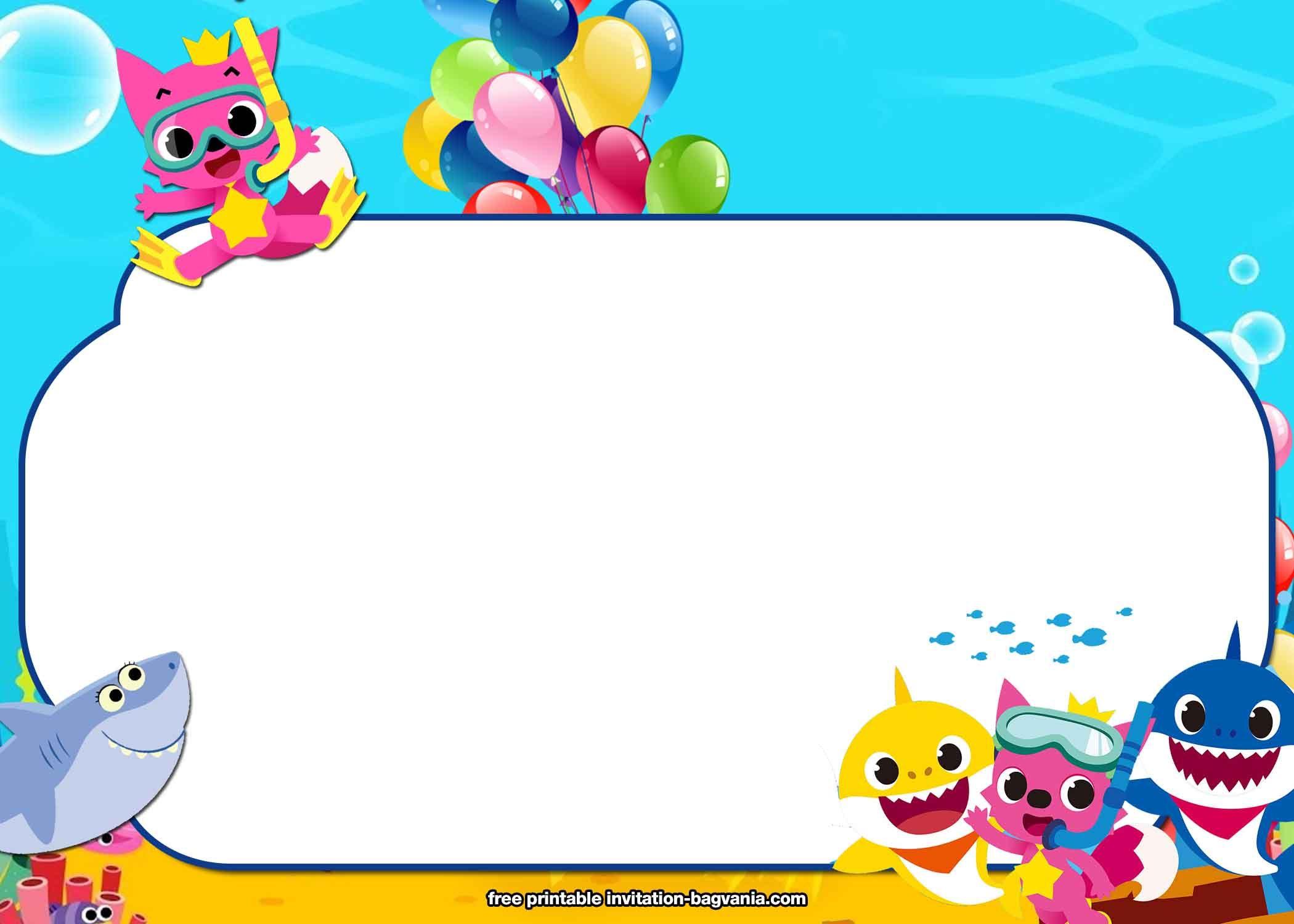 Free Printable Baby Shark Birthday Invitation Templates Shark Birthday Invitations Shark Themed Birthday Party Shark Birthday Party Invitation