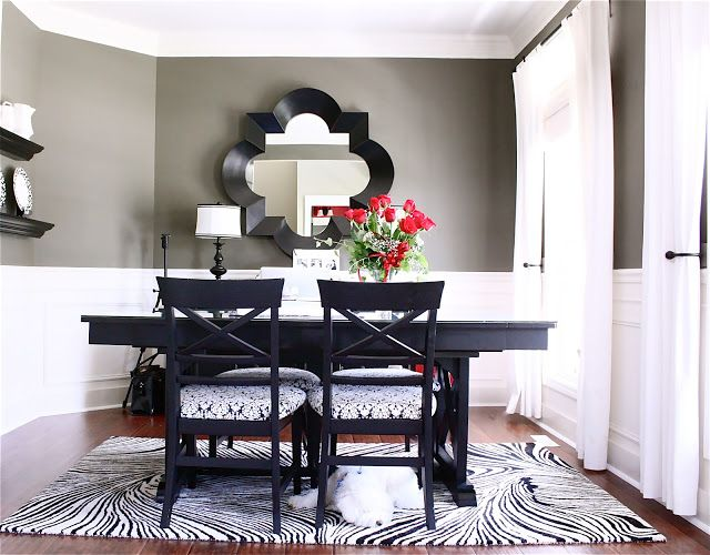 Black Dining Room Table · Wall Color ~ Martha Stewart ...