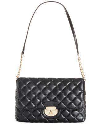 Calvin Klein Quilted Lamb Shoulder Bag - Handbags & Accessories ... : calvin klein quilted handbag - Adamdwight.com