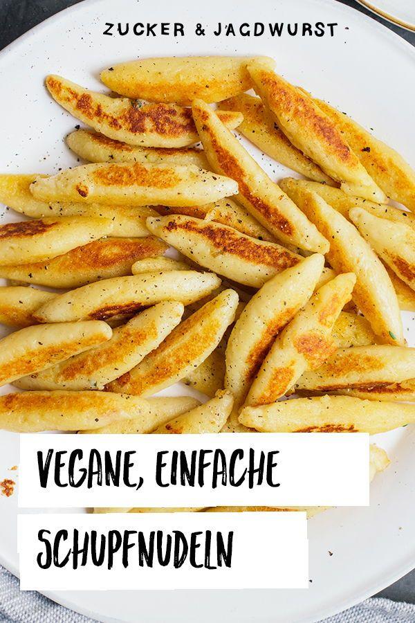 Vegane Schupfnudel-Pilz-Pfanne #easydinnerrecipes
