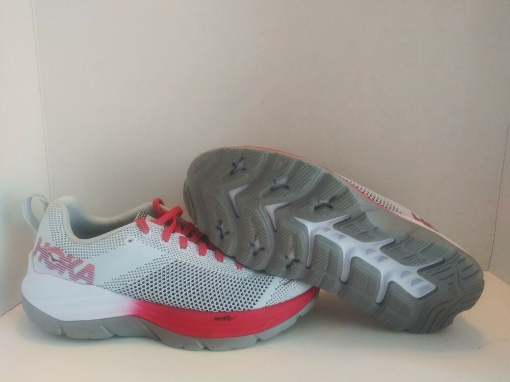 31cee1a697356 Hoka One One Mach Running Shoes US Womens Size 8 White & Hibiscus ...