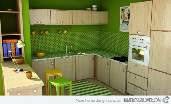15 Amazingly Homey Green Kitchen Designs Green kitchen, Green - simple kitchens designs