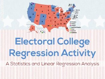 Electoral College Linear Regression Google Drive Activity Google Drive Activities High School Math Activities Cross Curricular Activities