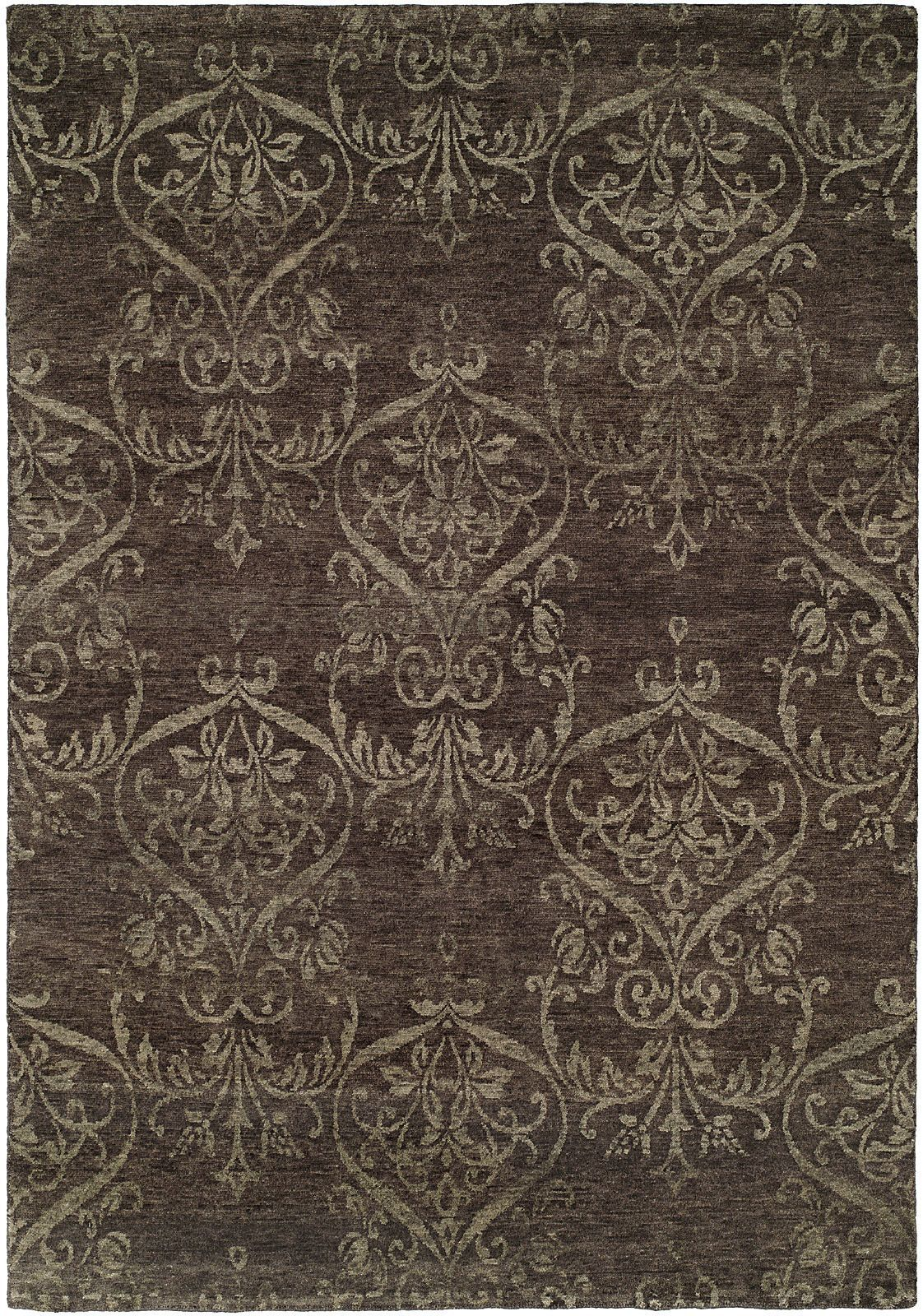 Floral Hand Knotted Wool Gray Area Rug In 2020 Grey Area Rug Area Rugs Purple Area Rugs