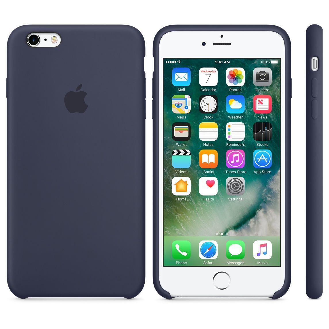 Apple silikone etui til iPhone 6 blå