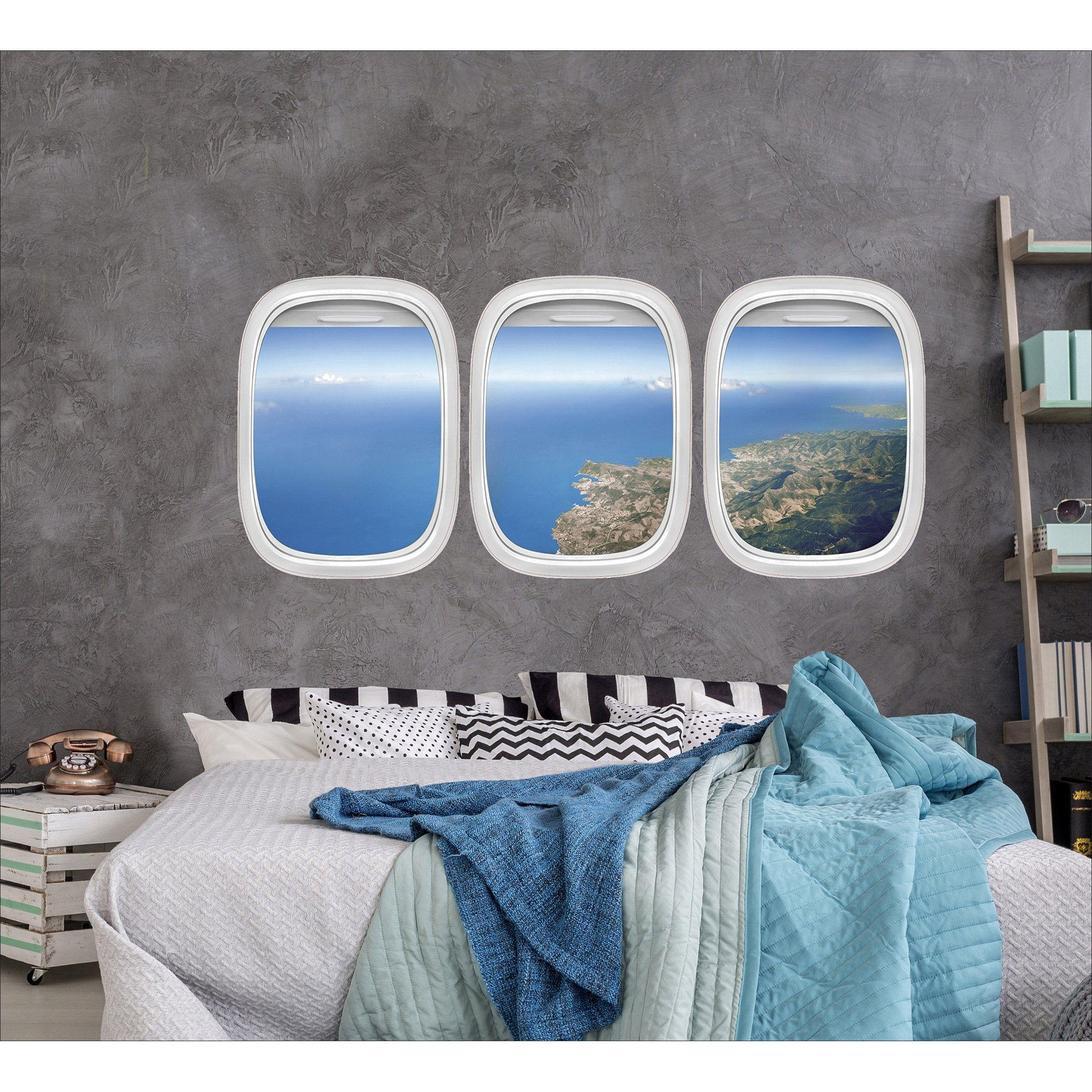 Sticker Tete Lit Adhesive Vue Du Ciel 160 Cm X 60 Cm Plage En 2019 Sticker Tete De Lit Decoration Voyage Et Chambres Plage