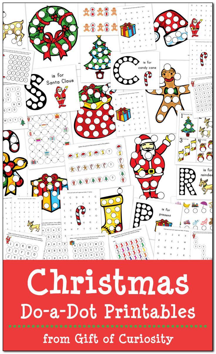 Christmas Do-a-Dot Printables | Number worksheets, Worksheets and ...