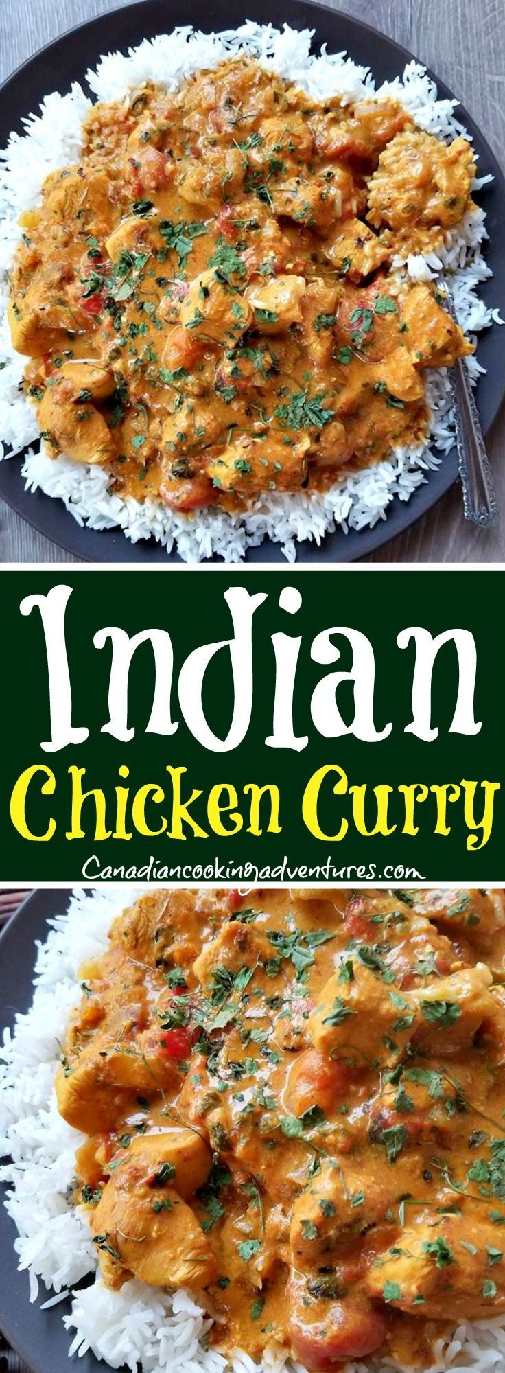 Indian Chicken Curry #crockpotchickeneasy