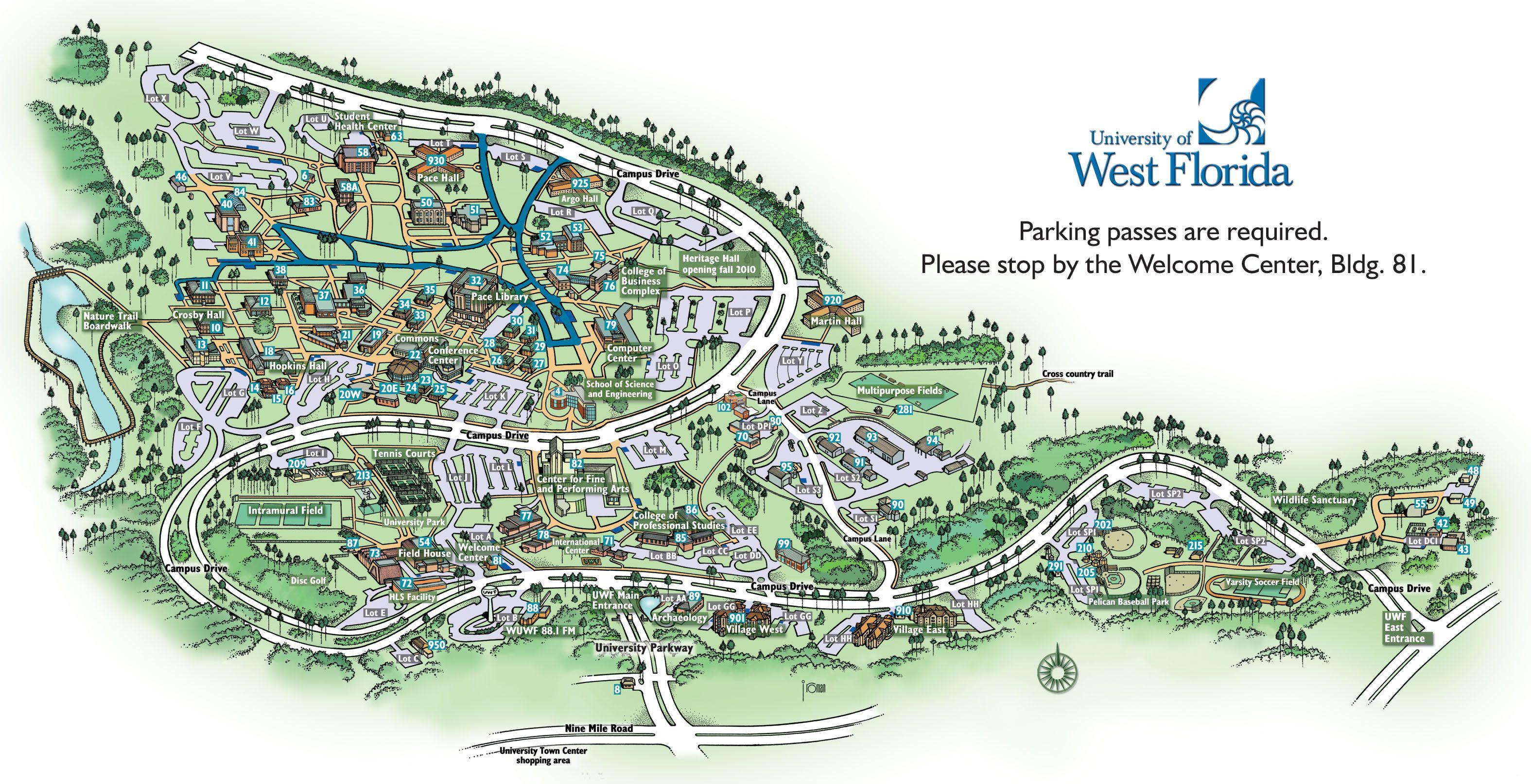 University Of West Florida Map University of West Floridaso many great memories