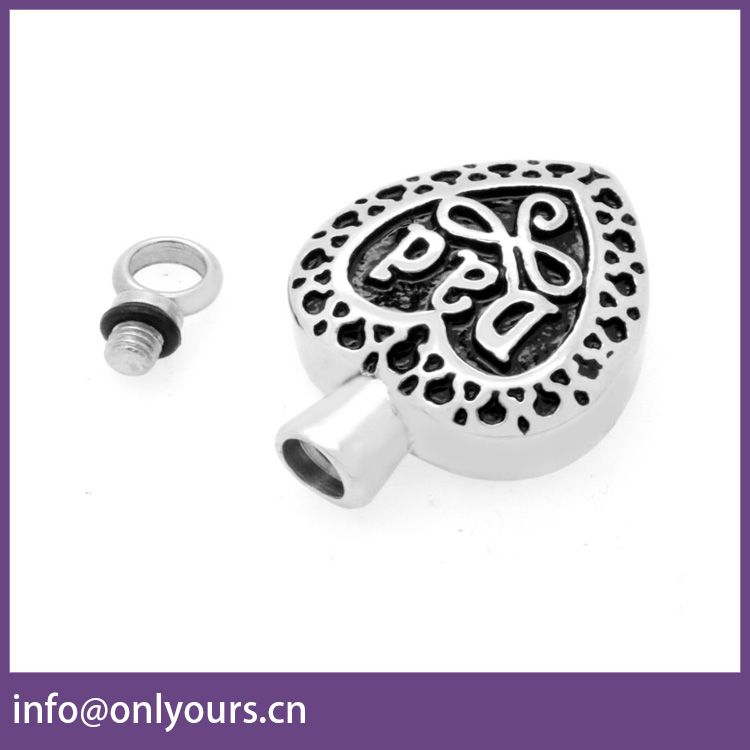 best selling products stainless steel heart engrave dad cremation urn pendant for memorial dad
