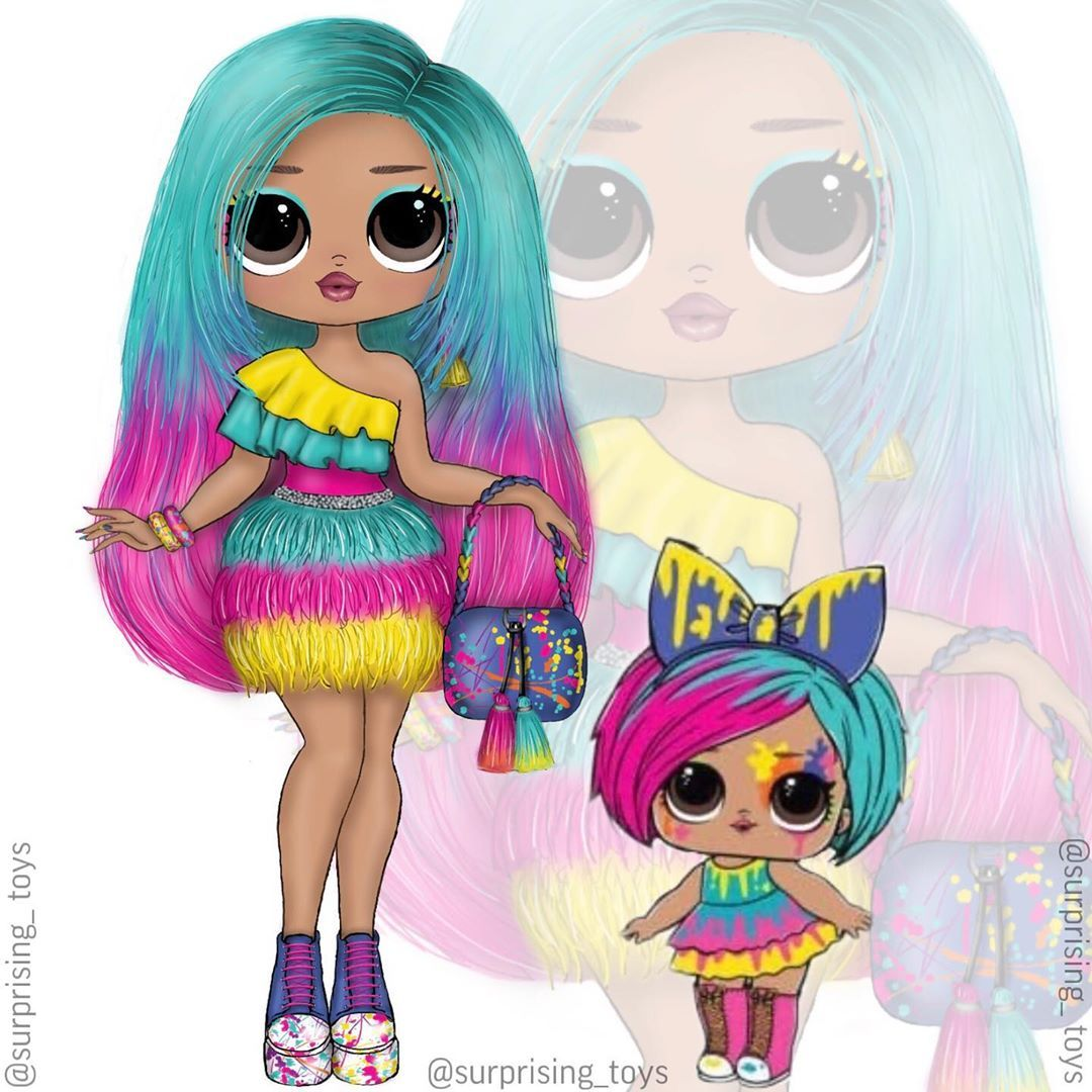 Splatters Big Sister Lol Surorise Omg Let S Think Of A Name For Her Lolsurprise Lolomg Lol Dolls Doll Drawing Cute Drawings