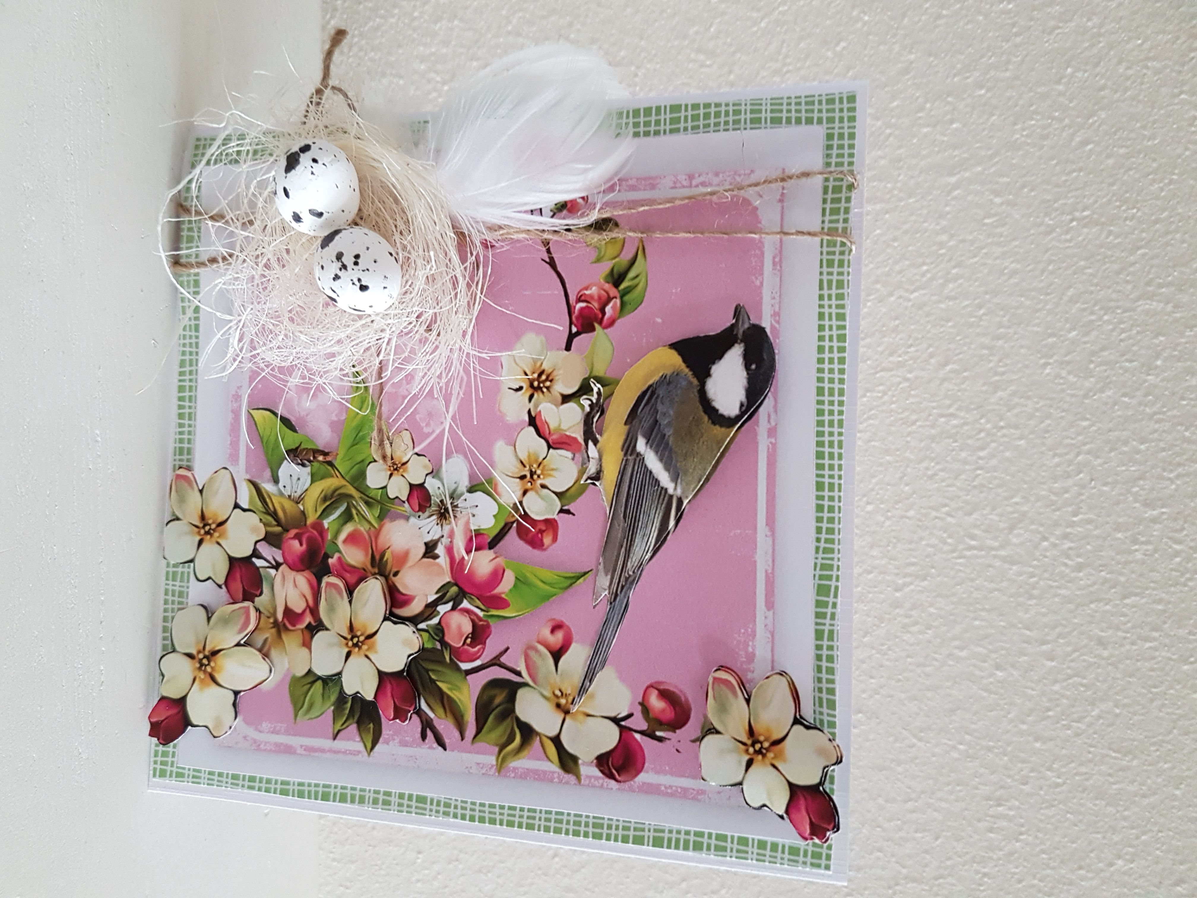 Card made by Anke Soeters with CraftEmotions Spring Time Collection. Stack CraftEmotions Paper stack art 118040/0208 Spring Time 11 sheets A4 8718736028749