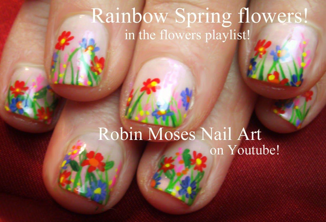 Nail-art by Robin Moses: #nailart #flowers | Nail Art: Inspiration ...