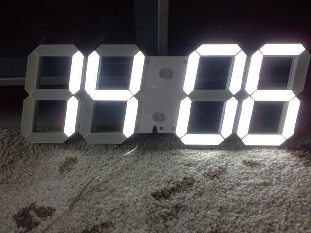 moderne mur numérique horloge télé mande 3d horloge murale led d