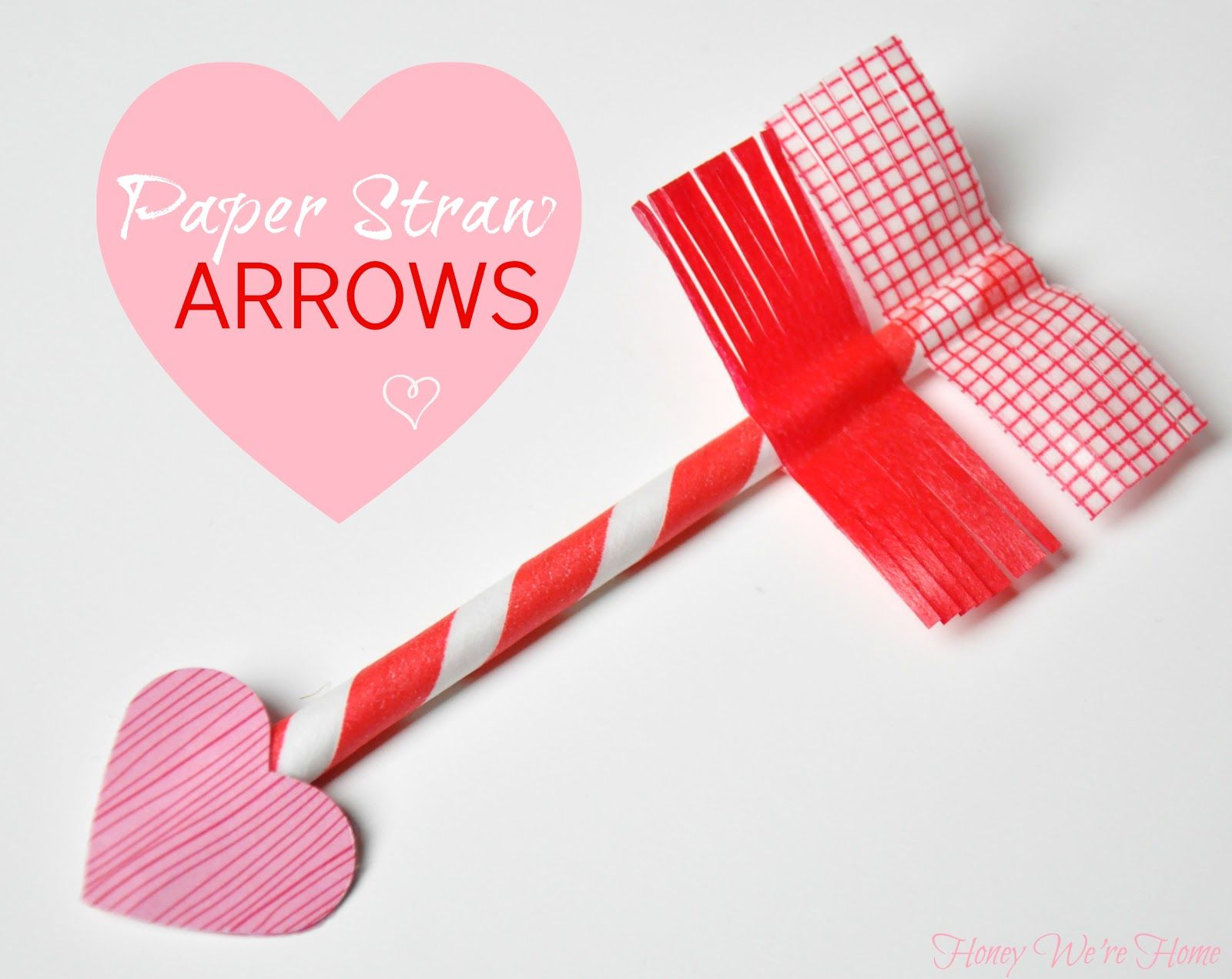 Honey We\'re Home: Valentine\'s Day Craft // Paper Straw & Washi Tape ...