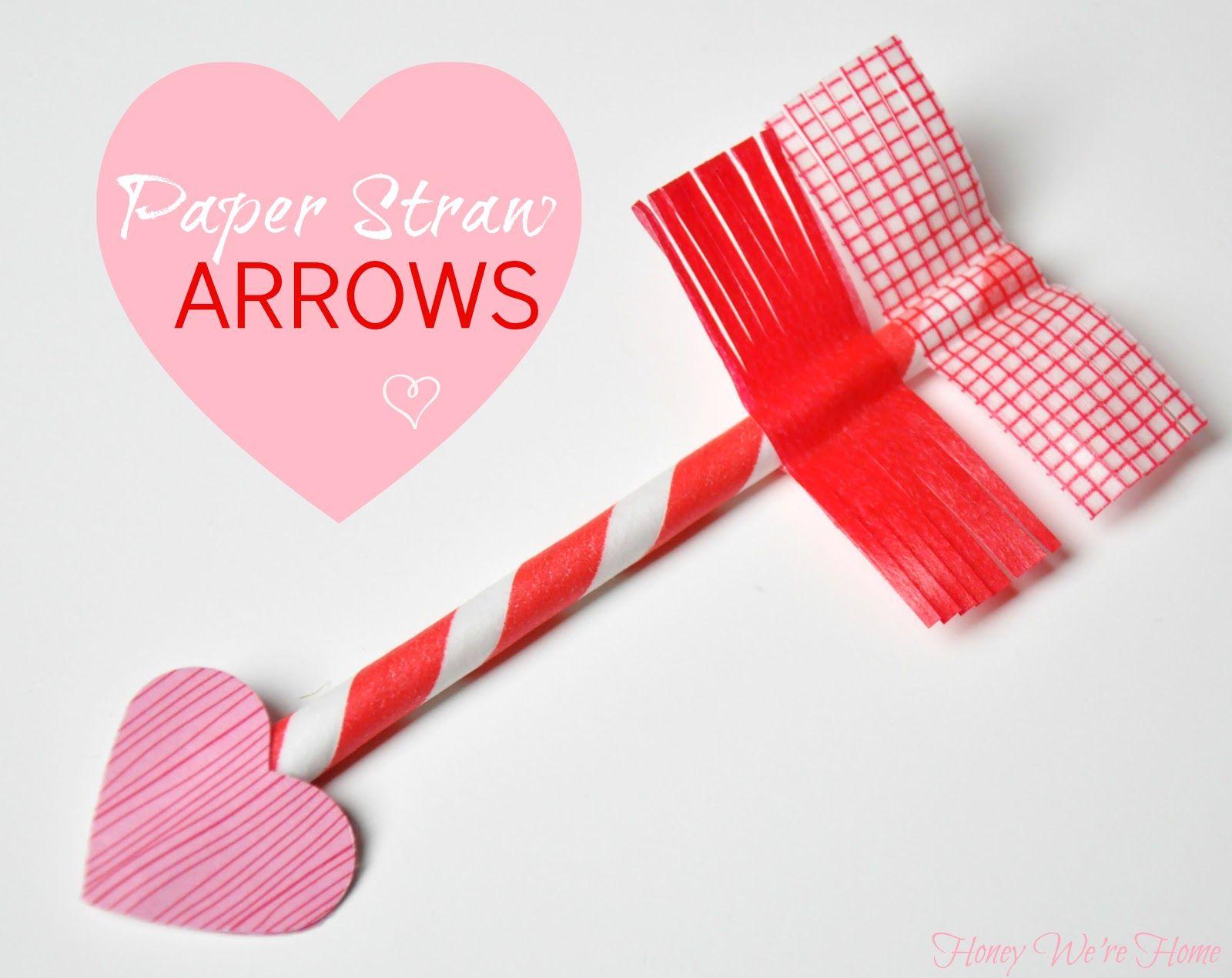 Honey We\'re Home: Valentine\'s Day Craft // Paper Straw & Washi Tape ...