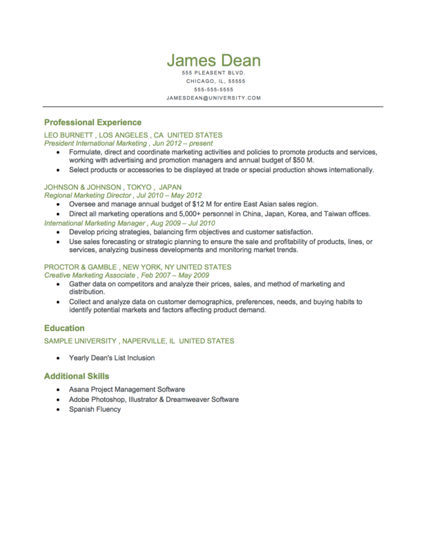 Chronological Resume Samples Student Free Sample Of Resume
