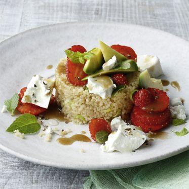Couscous mit Erdbeeren