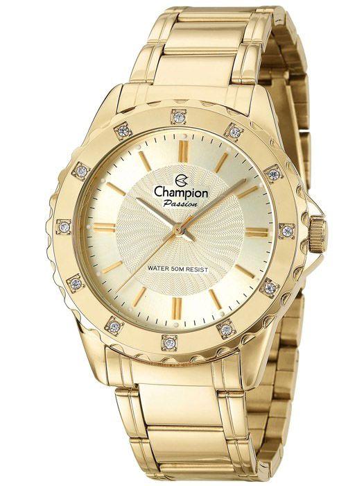 f893d75bafd Relógio Champion Passion Feminino Dourado CN29847G