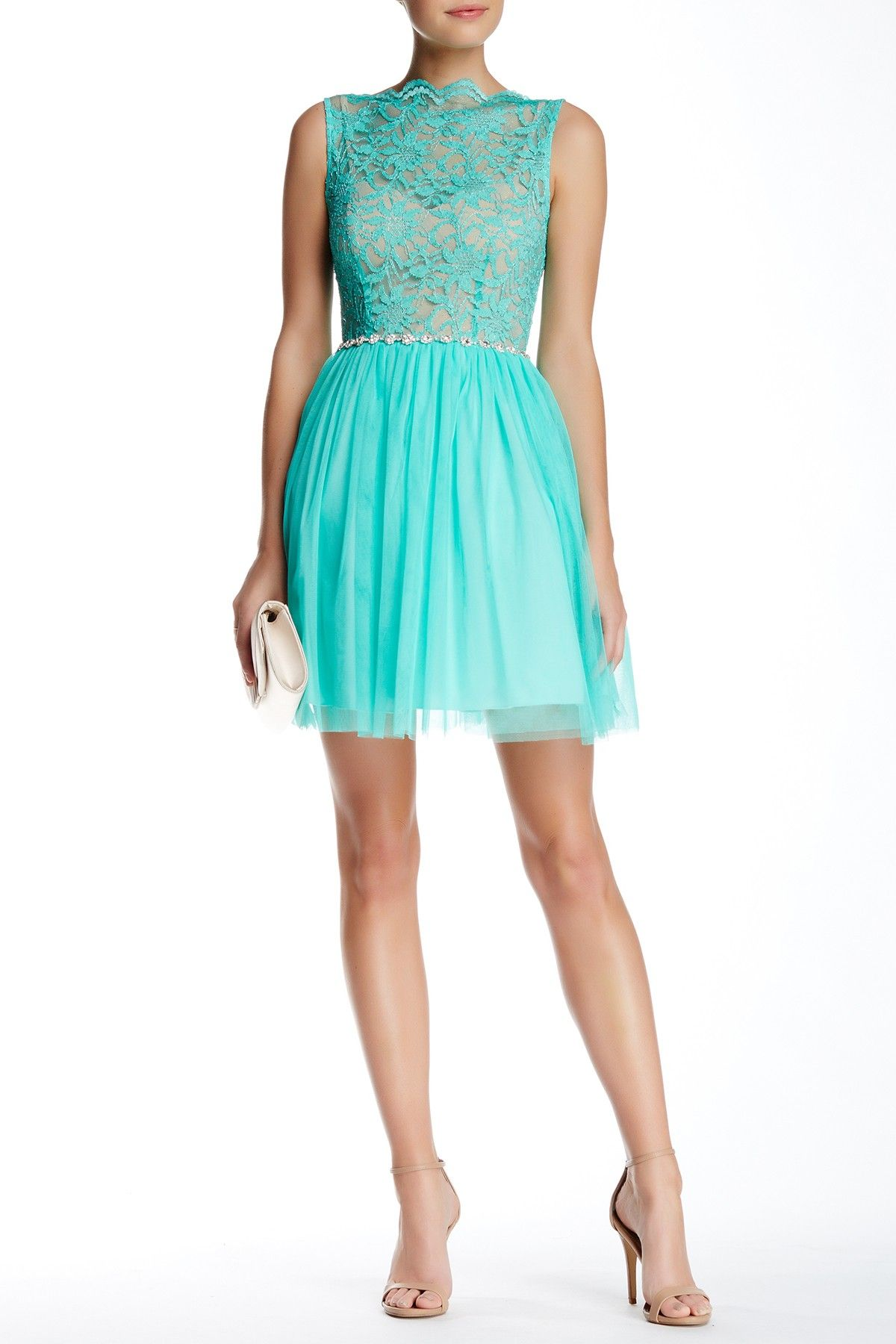City Triangles | Sleeveless Lace Tulle Party Dress | Triangles ...
